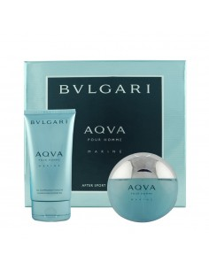 Bulgari Aqua Marine After Sport Essentials Set ( Edt 100 ml Spray + Gel Doccia Shampoo 150 ml)