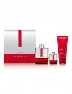 Prada Luna Rossa Sport Set ( Edt 100 ml Spray + Shower Gel 100 ml + Miniatura 9 ml)