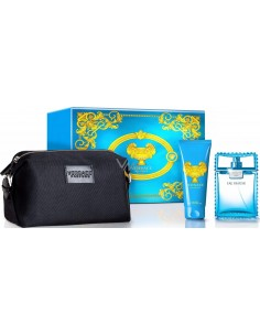 Versace Man Eau Fraiche Travel Set (Edt 100 ml Spray + Shower Gel 100 ml + Bag)