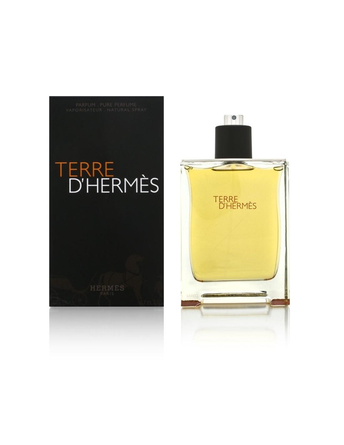 hermes terre d 39 hermes pure perfume 200 ml spray azzurra. Black Bedroom Furniture Sets. Home Design Ideas