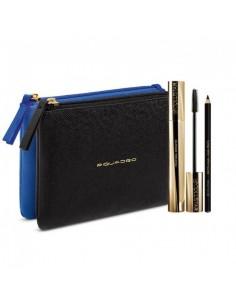 Collistar Set Mascara Infinito - Mascara + Matita Kajal Occhi + Pochette Nero Blu Piquadro