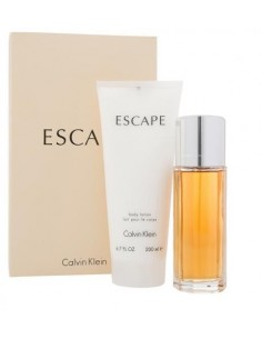 Calvin Klein Escape pour Femme Set (Eau De Parfum 100 ml spray + Body Lotion 200 ml)