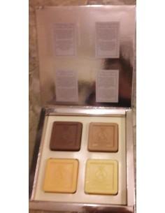 Atkinsons Luxury Soap Set 4 pezzi: Arancia Amara+Legno di Cedro+Patchouli+Neroli
