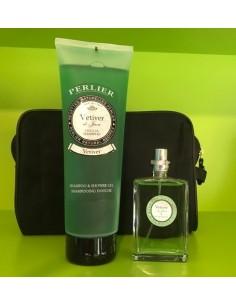 Perlier Vetiver di Java Set: Eau De Toilette 50 ml Spray+Shampoo & Shower Gel 250 ml