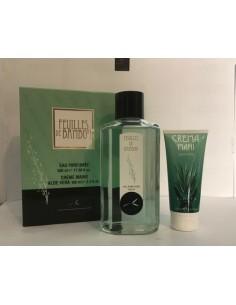 Sireta Feuilles De Bambou Set: Eau Parfumee 500 ml + Crema mani Aloe Vera 100 ml