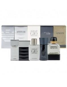 Armani Set Mini Pour Homme (Acqua di Giò 5 ml + Diamonds 4 ml + Code 4 ml + Attitude 5 ml + Armani Eau Pour Homme 5 ml)