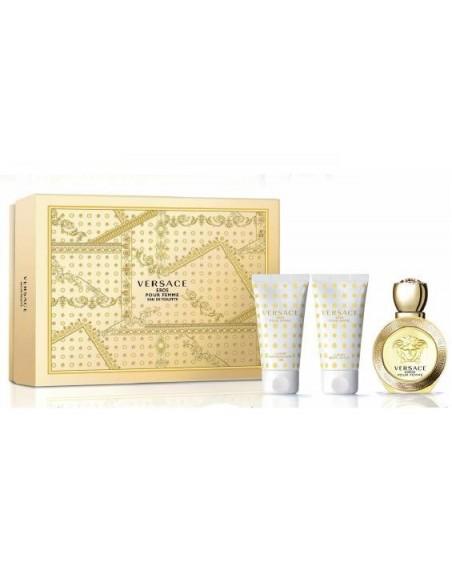 Versace Eros Pour Femme Set - Eau de Toilette 50 ml + Body Lotion 50 ml + Shower Gel 50 ml