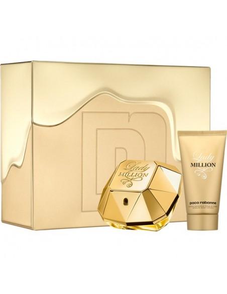 Paco Rabanne Lady Million Set ( Eau De Parfum 80 ml + Body Lotion 100 ml)