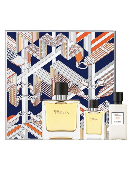 Hermes Terre d'Hermes Set ( Eau De Parfum 75 ml spray + Edp 12,5 ml + After Shave Lotion 40 ml