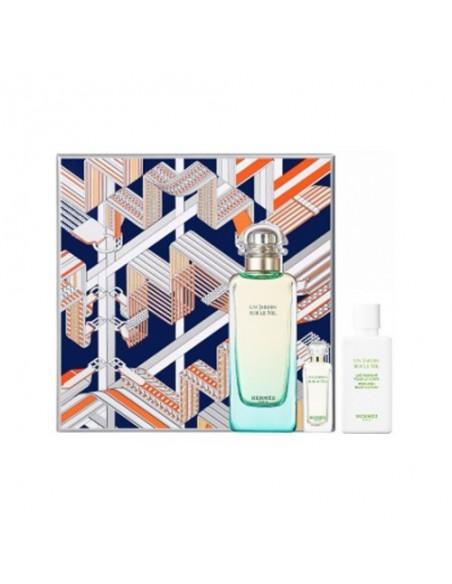 Hermes Un Jardin sur le Nil Set (Eau De Toilette 100 ml + Body Lotion 80 ml + Mini 7,5 ml)