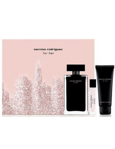 Narciso Rodriguez For Her Set -  Edt 100 ml + Body Lotion 75 ml + Mini 10 ml