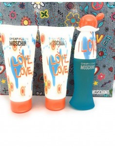 Moschino Cheap & Chic I Love Love coffret Eau de Toilette 50ml+ Shower Gel 100ml+ Body Lotion 100ml