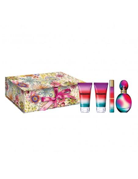 Missoni Donna Set - Eau de Parfum 50 ml + Body Lotion 50ml + Shower Gel 50ml+ Eau de Parfum miniature 10ml