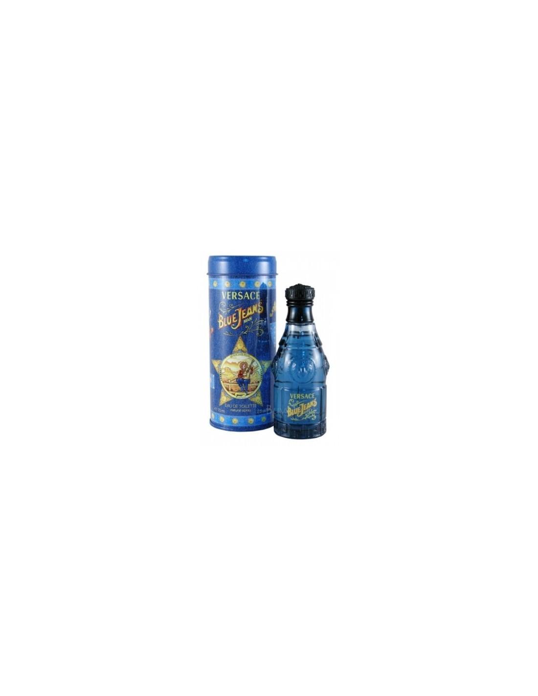 Eau Versace Versus De Blue Jeans Ml 75 Spray Toilette Azzurra RL35Aqc4j