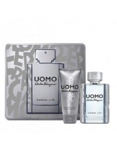 Salvatore Ferragamo Uomo Casual Set (EAU DE TOILETTE 50 ML + SHOWER GEL 100 ML)
