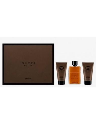 Gucci Guilty Absolute Pour Homme Set Eau de Parfum 90 ml + Beard Oil 30 ml + Brush