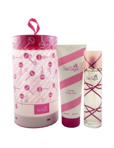 Aquolina Pink Sugar Set (Eau De Toilette 100 ml Spray + Body Lotion 250 ml)