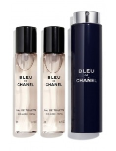 Chanel Blue Eau De Toilette Set da Viaggio 3x20 ml Spray