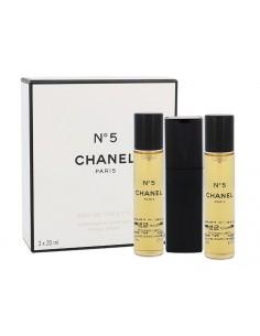 Chanel N°5 Eau De Toilette Vaporizzatore Da Borsetta Ricaricabile 3 x 20 ml
