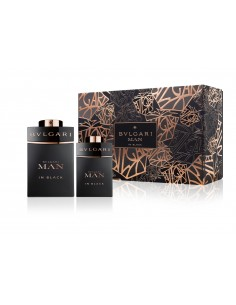 Bulgari Man In Black Set ( Eau de Parfum 60 ml Spray + Eau de Parfum 15 ml Spray )