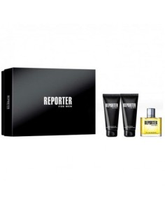 Reporter For Men Set (Edt 75 ml Spray + Shower Gel 100 ml + After Shave Balm 100 ml)