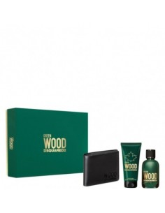 Dsquared2 Green Wood Pour Homme Edt 100ml+ Shower Gel 100ml+ Wallet
