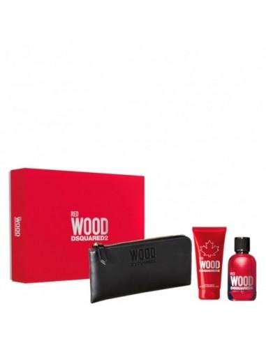 Dsquared2 Red Wood Pour Femme (Edt 100 ml+ Shower Gel 100ml+ Wallet)