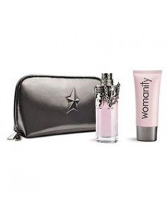 Thierry Mugler Womanity Coffret ( Edp 50 ml Spray + body Lotion 100 ml+Pochette)